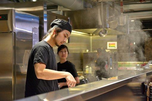 シェフ, サービスを提供, ラーメン, 食品, 楽しむ, おいしい, 麺
