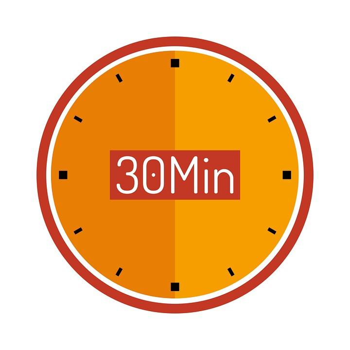 Clock, 30 Min, Wait, Countdown, Plan, Cooking Time