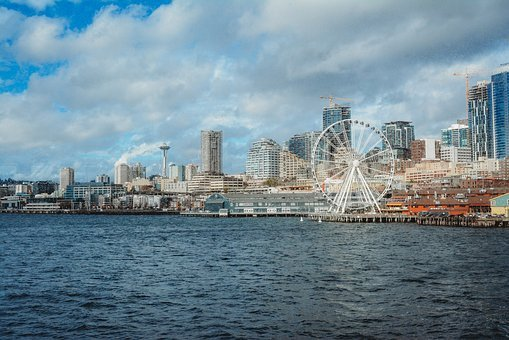 Seattle, City, Skyline, Cityscape, Urban