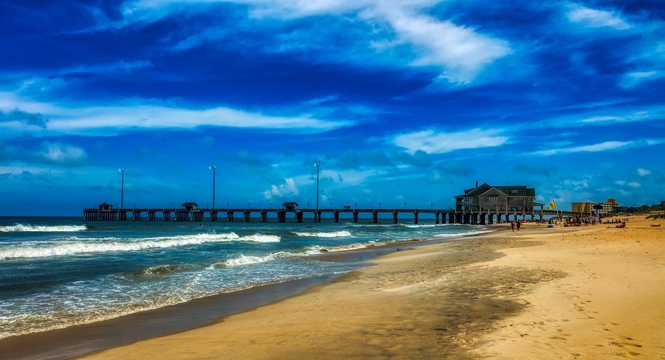Nags head beaches in North Carolina