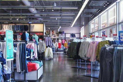 ストア, 洋服店, 衣料品, ショッピング, ファッション, インテリア