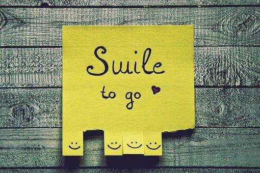 笑顔, リスト, ティアオフ, 幸せです, 喜び, スマイリー