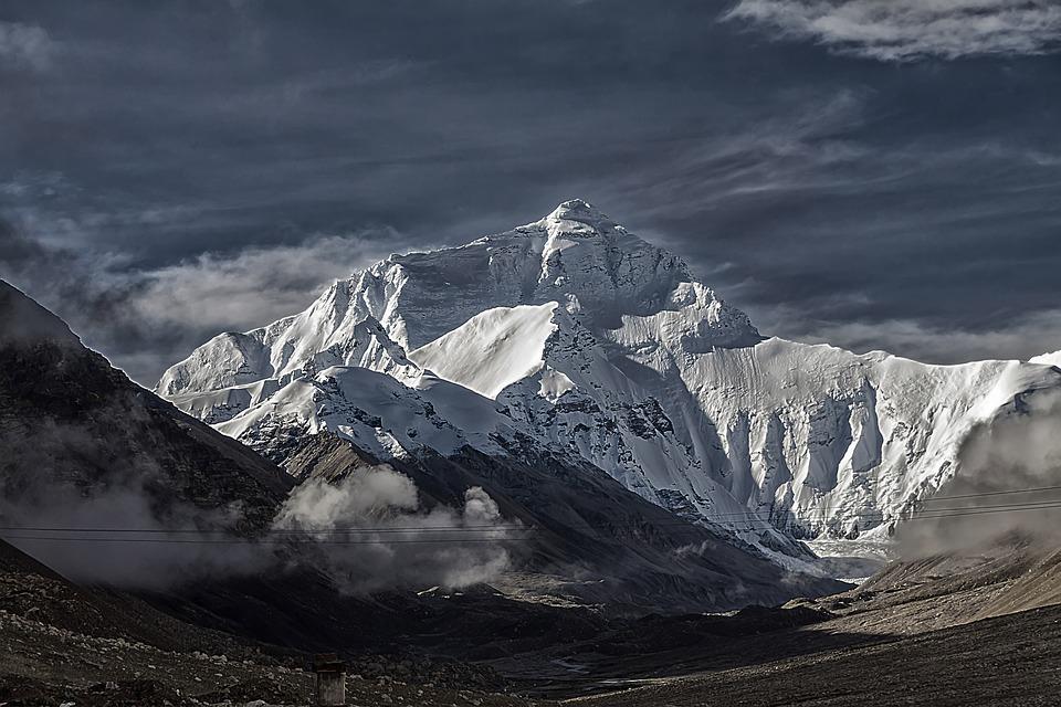 Tibet Gunung Everest Tschomolangma Foto Gratis Di Pixabay
