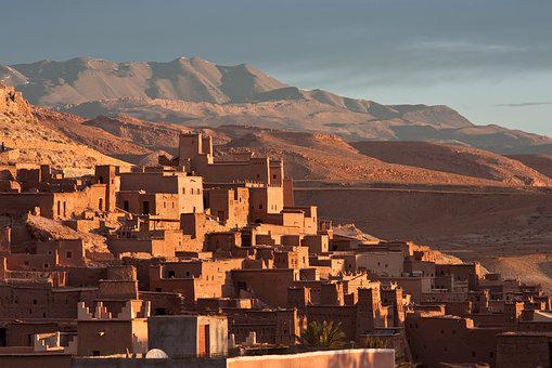 Morocco, Africa, Village, Mountains