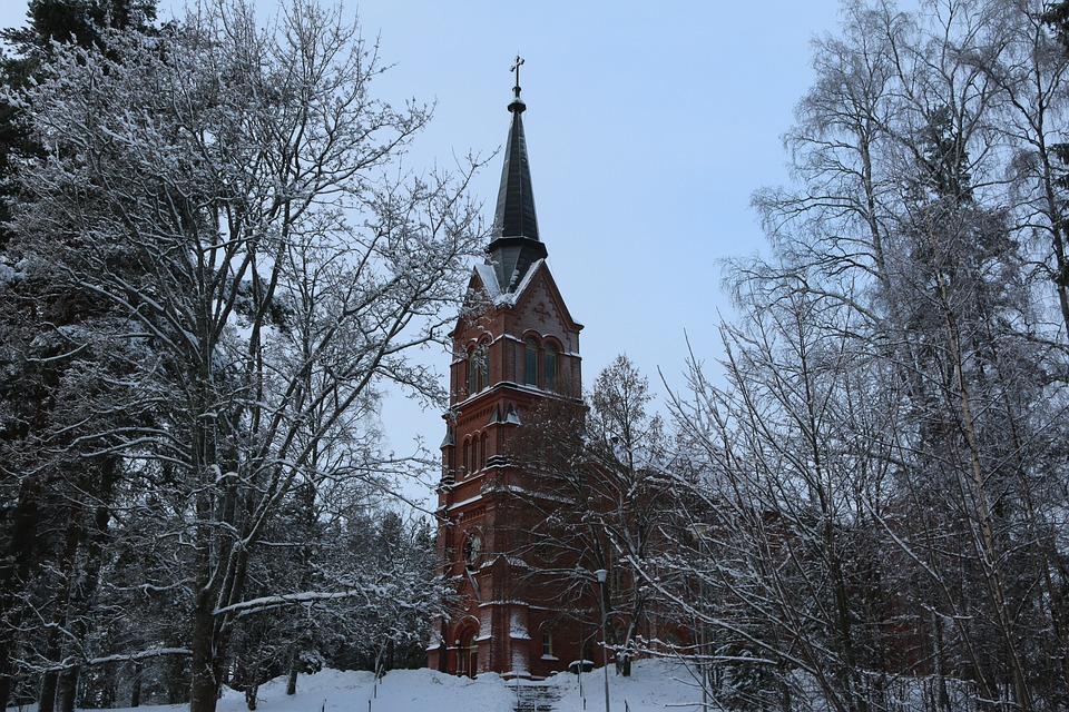 冬 教会 風景 , Pixabayの無料写真