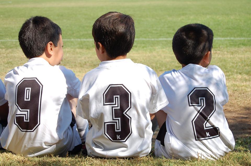スポーツ, サッカー, 子供, T シャツ