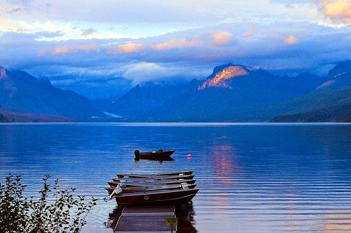 Lake Mcdonald Rental Boats, Water, Lake