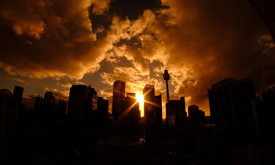 Sydney, Ligne D'Horizon, Tour, Coucher De Soleil