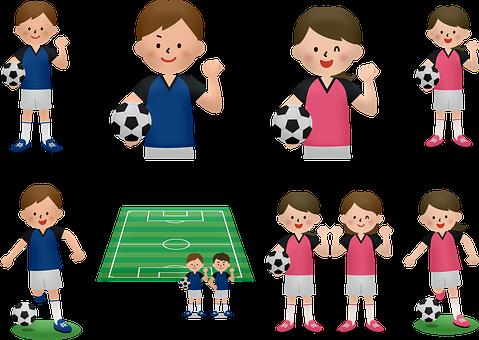 ChildrenS Soccer, Boy, Girl