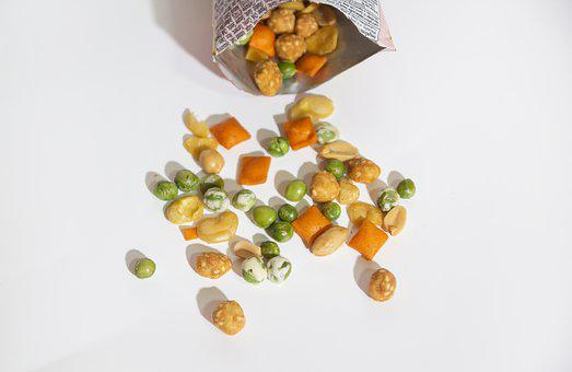 Dried Beans, Nuts, Cheese, Snack, White