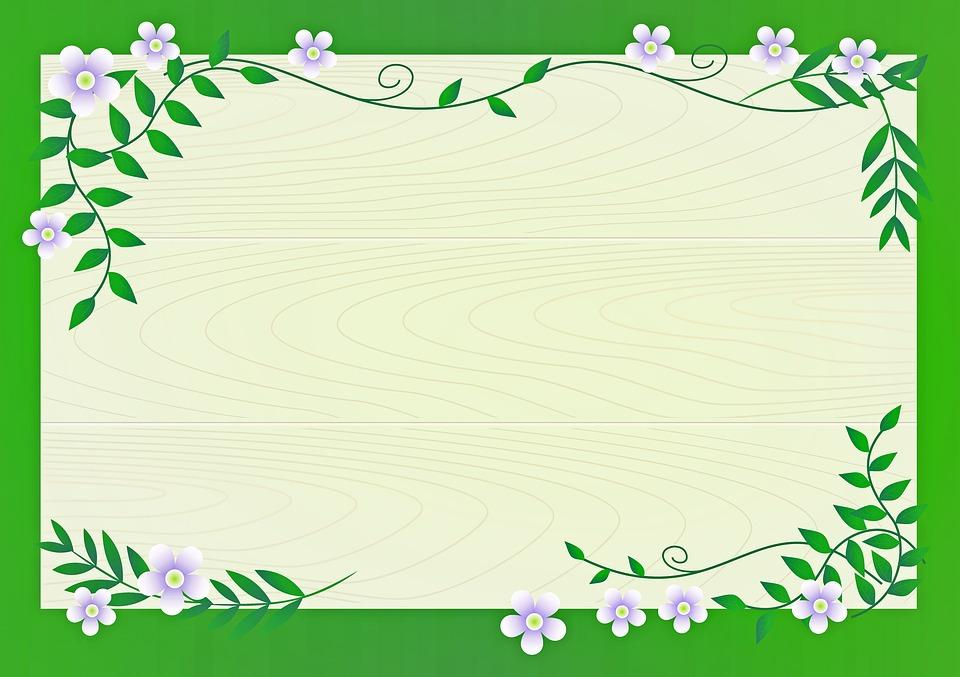 Floral Background Flowers Vines Free Image On Pixabay
