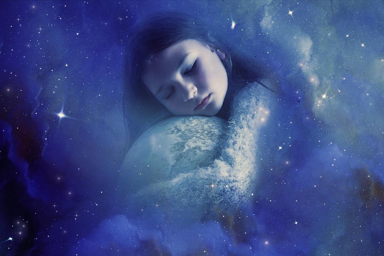 ファンタジー, 夢, 魔法, 女性, 子, 女の子, 睡眠, 地球, 星, 世界, 謎, 神秘的な, 作曲