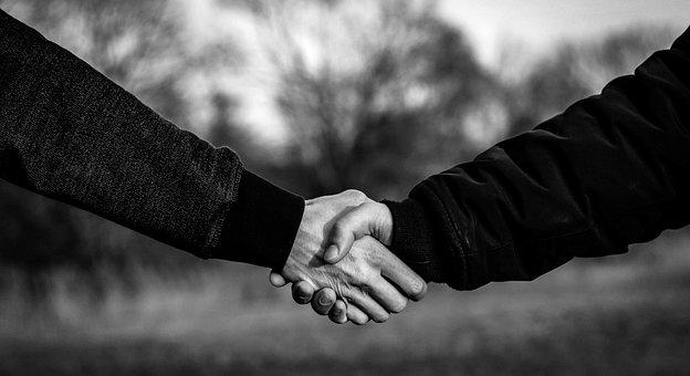Møde, Håndaftryk, samtale, velkommen, Trygge hænder, stole