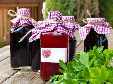 ガラスの瓶, バイアル, シロップ, ワイン, ジュース, スムージー