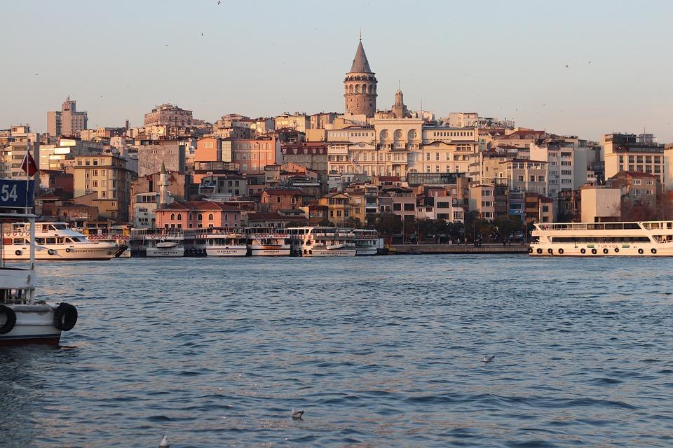 Galata, Istanbul, Laut, Menara, Kalkun, Lanskap, Kota