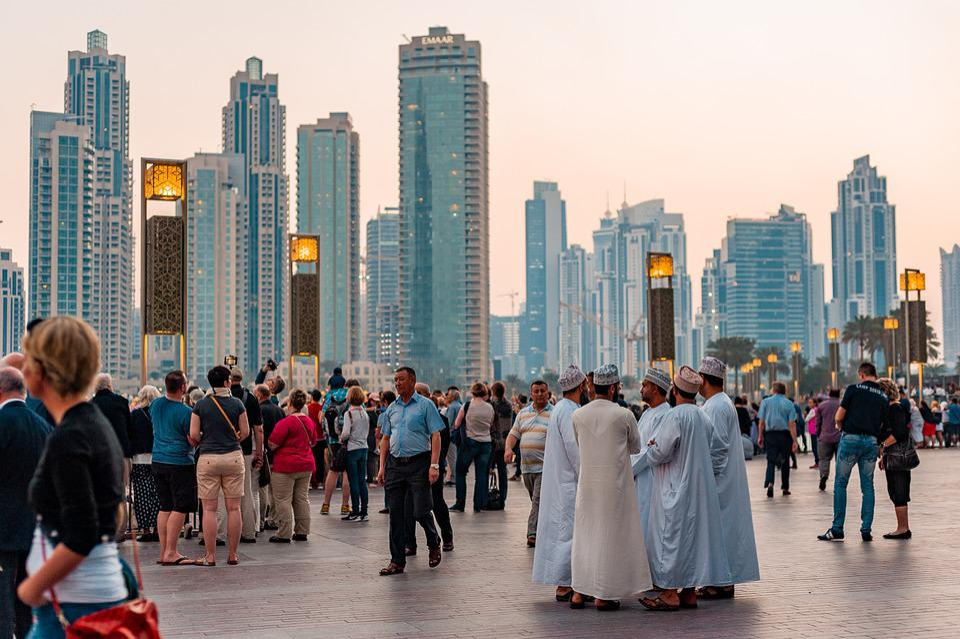 Suasana di pusat kota Dubai
