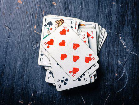 Cards, Card Game, Heart, Pik