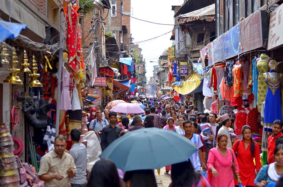 Orang Orang, Kota, Nepal, Asia, Perkotaan, Pejalan Kaki