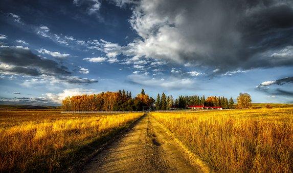 Colorado, Ranch, Fall, Autumn, Sky