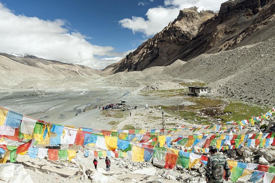Tybet, Północnej Stronie, Tschomolangma, Chiny, Ziemia