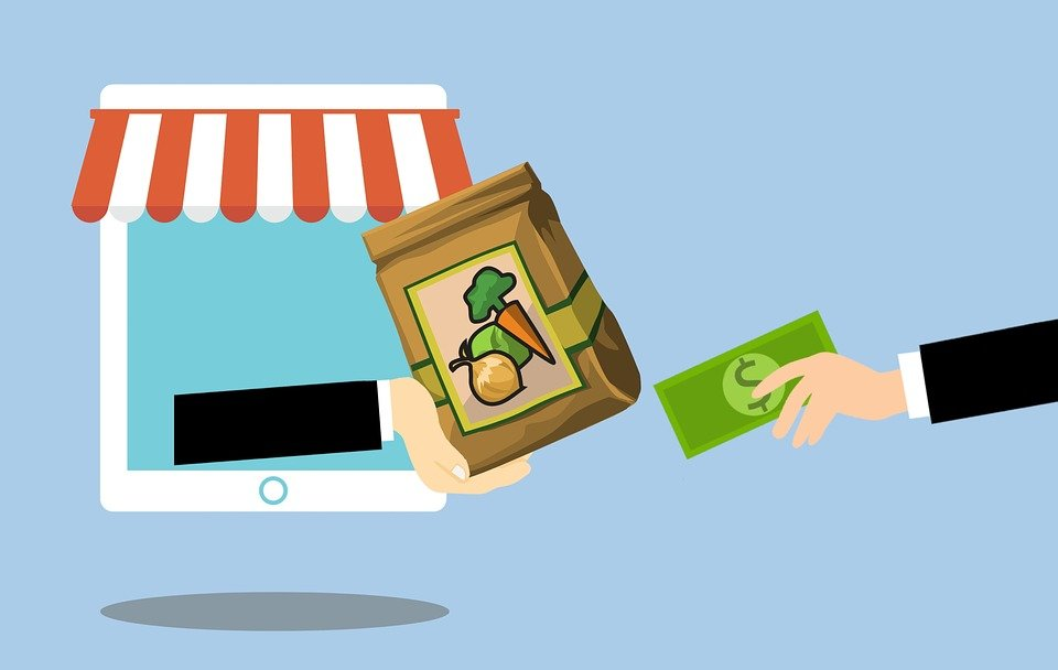 Grocery, Online, Delivery, Food, Concept, Ordering