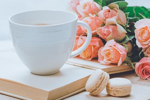 Cà Phê, Cốc, Hoa, Hoa Hồng, Caffeine