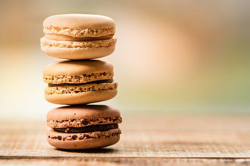 クッキー, マカロン, 甘さ, デザート, フランス, パステル, お菓子