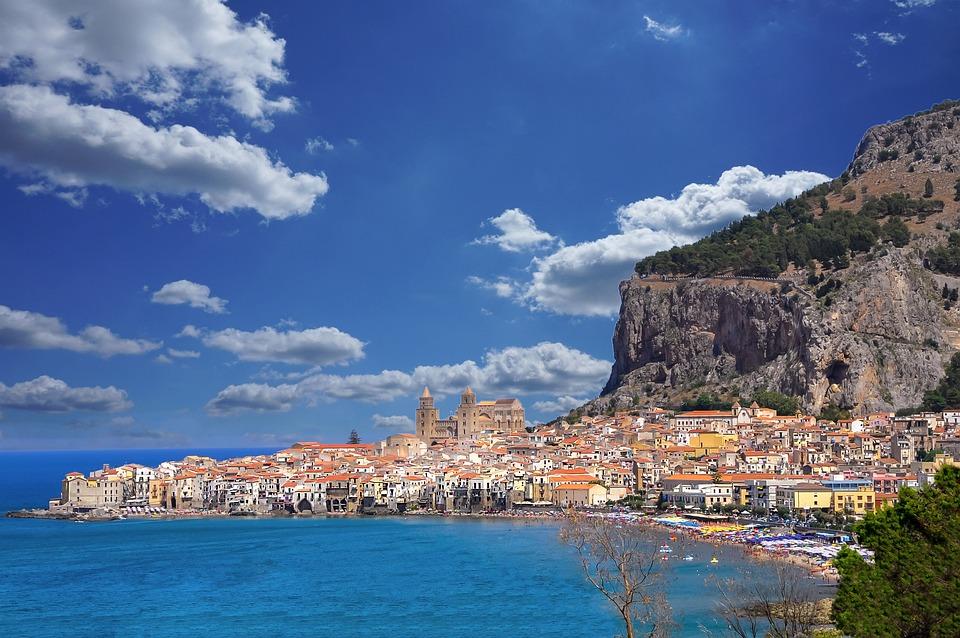Cefalu, Ansicht, Italien, Sizilien, Landschaft, Sommer