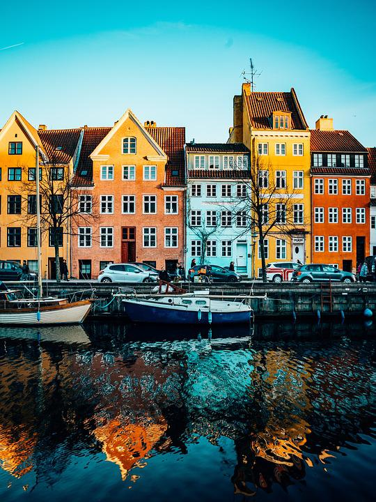 Copenhagen, Christianshavn, Harbour, Colourful, Houses