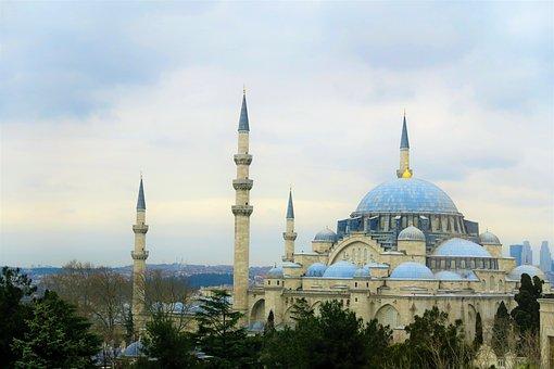 スレイマニエ, イスタンブール, キャミ, イスラム教, トルコ, ドーム, 街