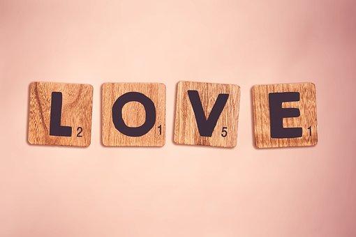 愛, ピンク, 手紙, 学校, 単語, 運, ロマンチックな, 気持ち