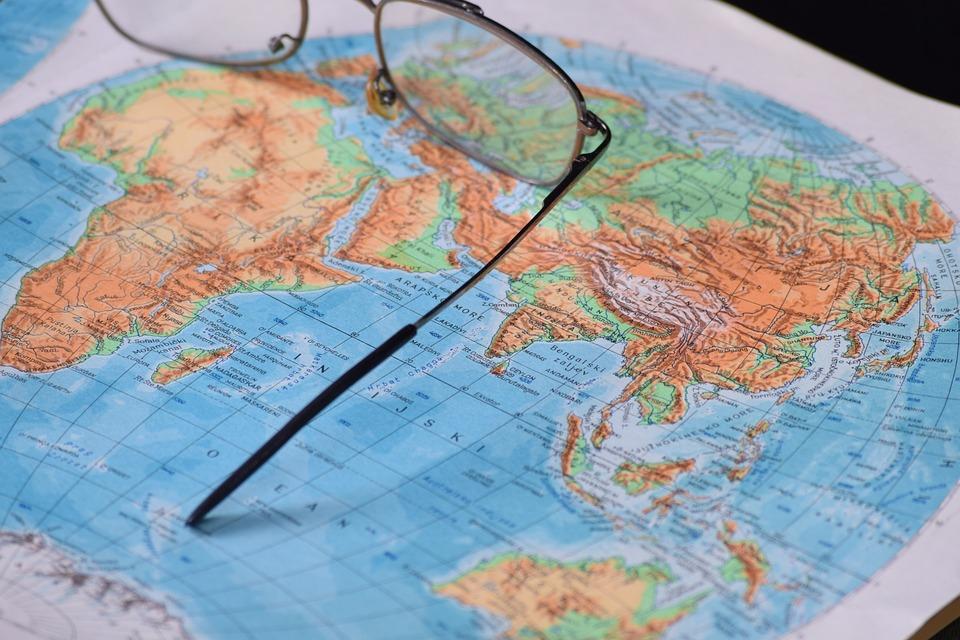 世界, 地球, アジア, オーストラリア, 南アメリカ, 北アメリカ, アフリカ, ヨーロッパ, 大陸, 地図