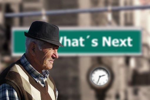 Man, Senior, Old, Arrow, Forward