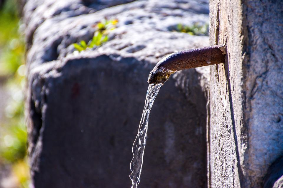 Acqua, Fontana, Pubblico, Bagnato, Flusso, Vecchio