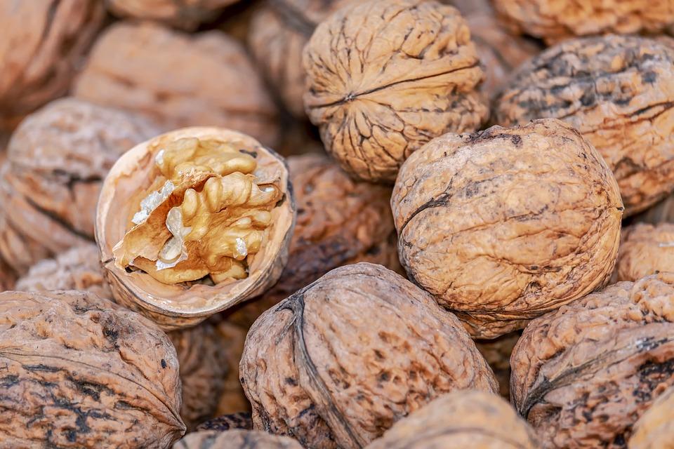 Nüsse, Walnüsse, Schalenfrucht, Braun, Essen