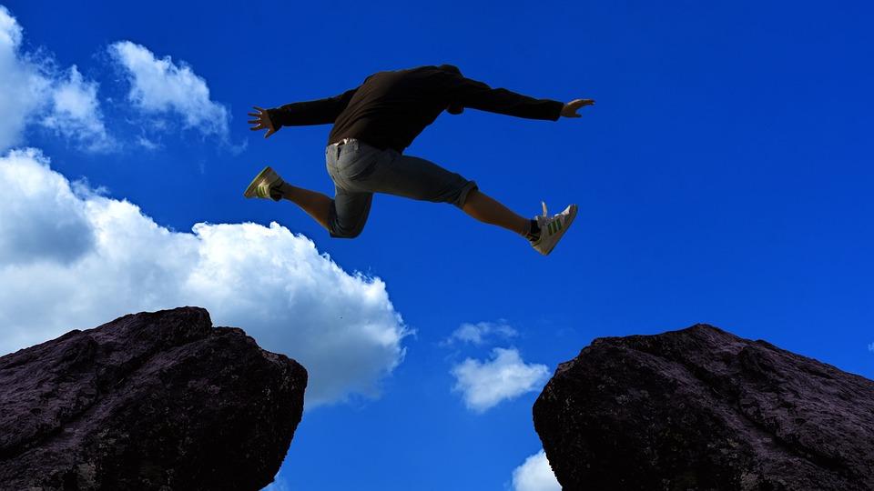 可能, 不可能, 機会, オプション, 人, ジャンプ, 変更, スイッチ, 再考します, 作る