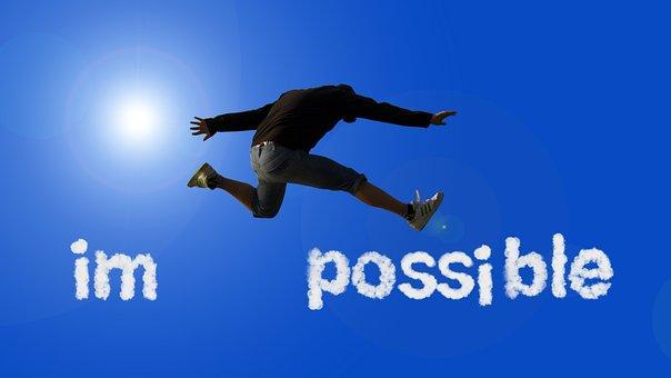 可能, 不可能, 機会, オプション, 人, ジャンプ, 変更, スイッチ