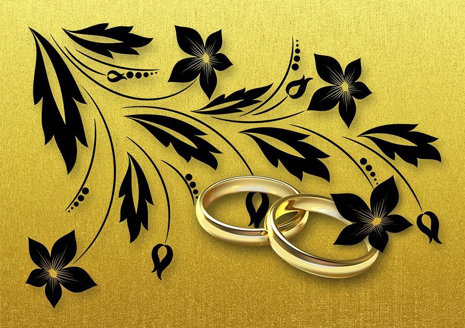 Goldene Hochzeit Heirat Eheringe Kostenloses Bild Auf Pixabay