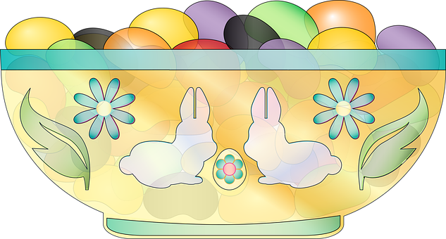 Graphic, Jelly Beans, Dish, Easter, Bowl