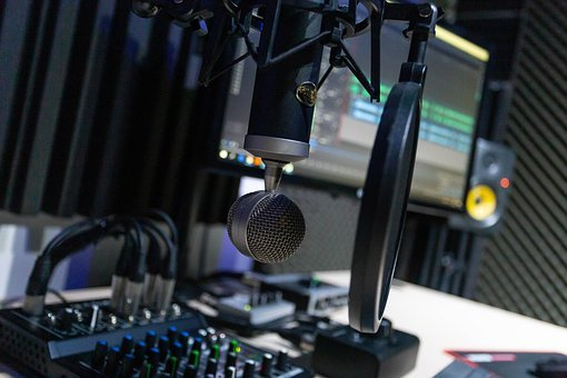 Estúdio, Microfone, Rec, Músicas, Rádio