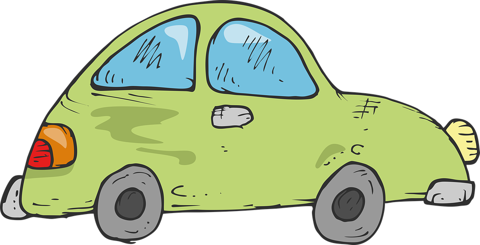 Drawing Green Car Childrens Free Image On Pixabay