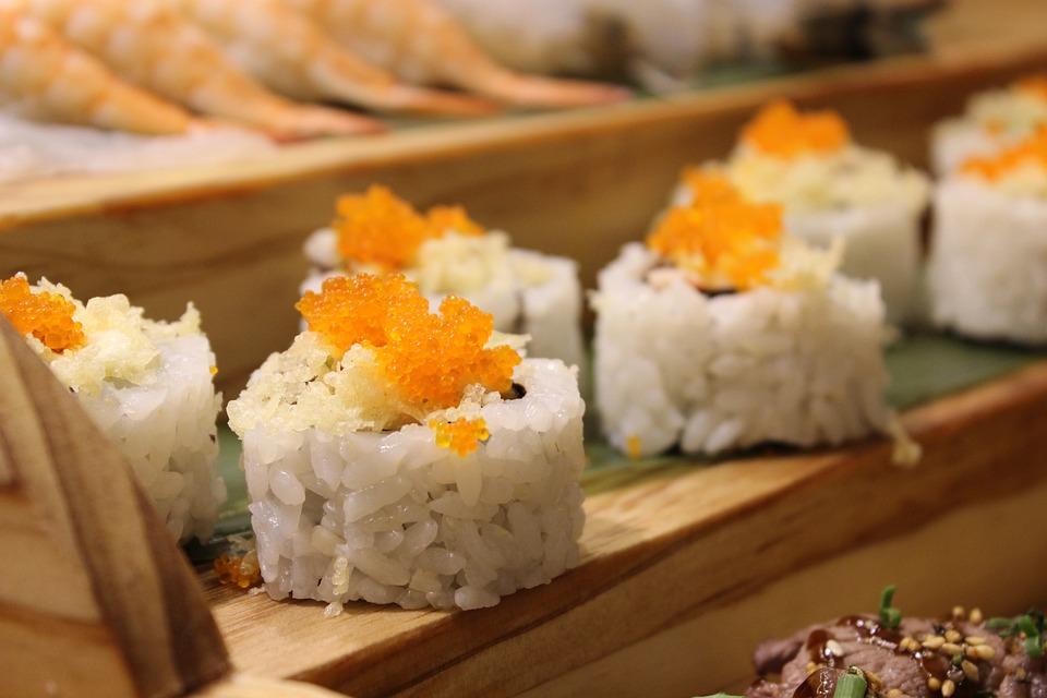 寿司, アル, 料理, レストラン, 日本, 和食, タラ, 韓国, 食糧, 食事, 魚, ライス