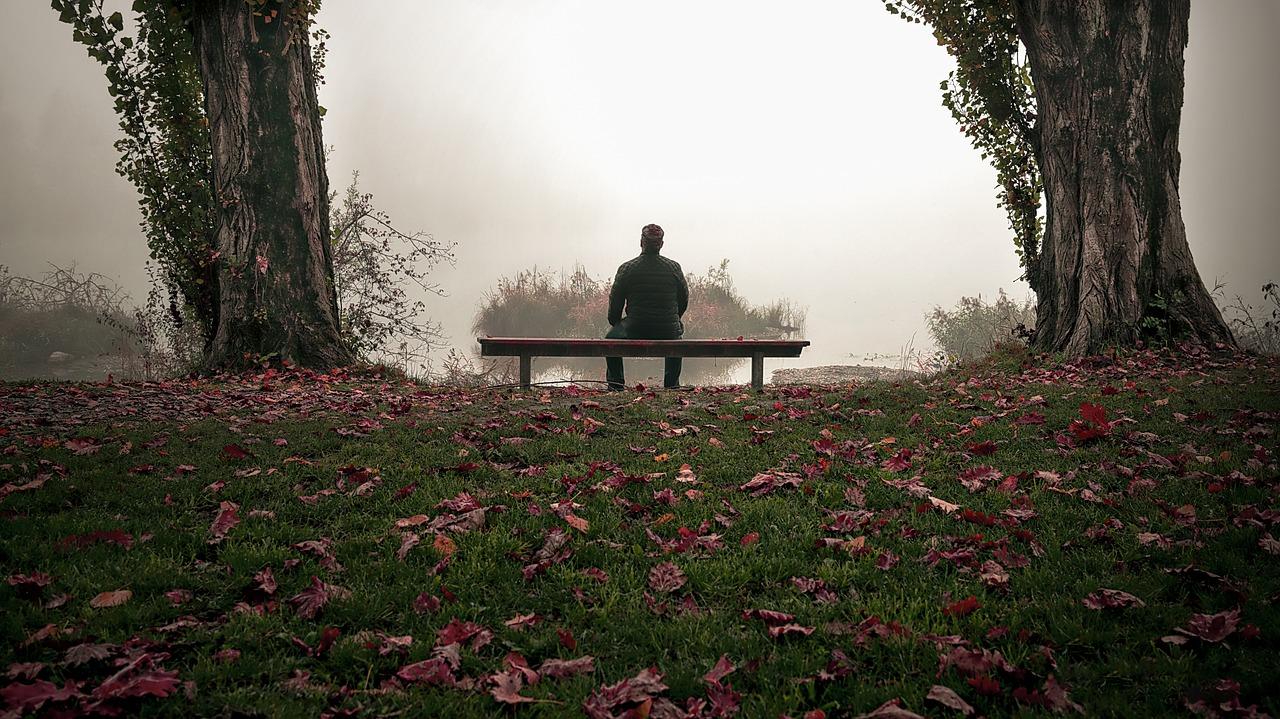 одинокие люди на фоне осени фото оформления зависит впечатление