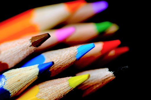 Crayons, Pencils, Colorful, To Write