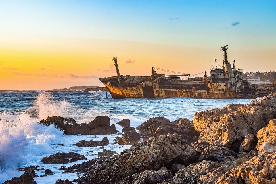 Rocky Coast, Sea, Shipwreck, Nature, Landscape, Scenery
