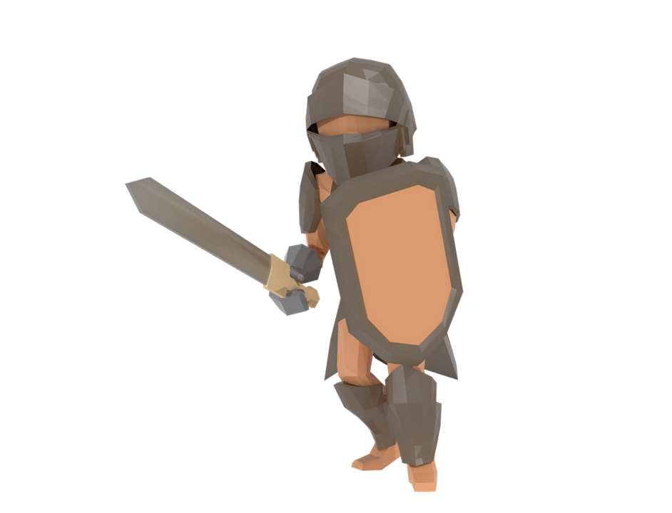 Knight Lowpoly 3D - Free image on Pixabay