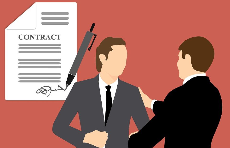 Forhåpentligvis ender din B2B markedsføring i et håndtrykk og en signatur fra kunden!