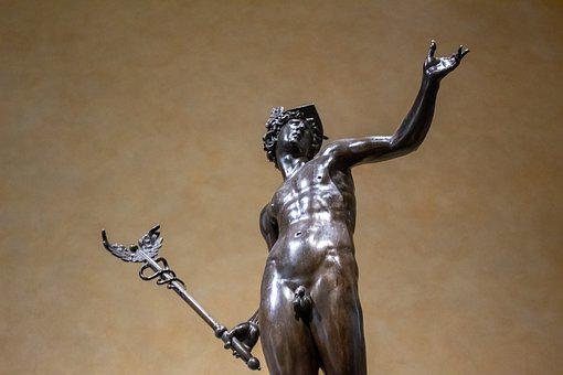Hermes, Statue, Mercury, God, Ancient