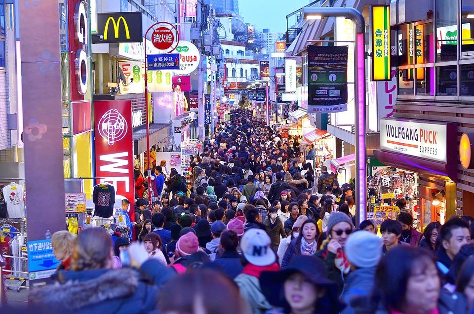 東京, 原宿, 日本, 群衆, 神社, 人, 市, 道路, 神宮, 通り, 人文科学, 観光客, 都市