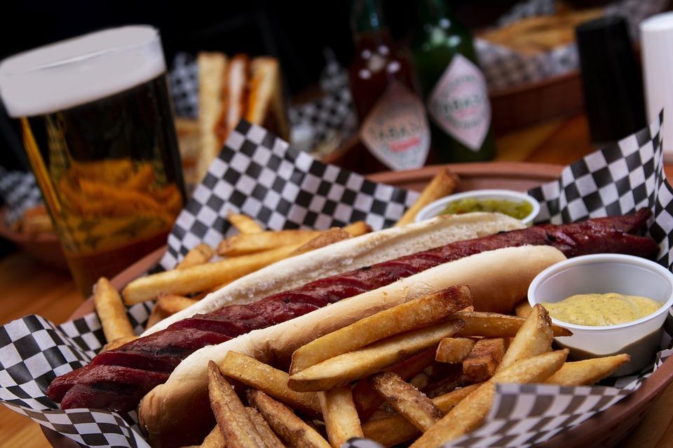 Hot Dog Kentang Goreng Makanan Foto Gratis Di Pixabay